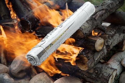 Newspaper Fire Log