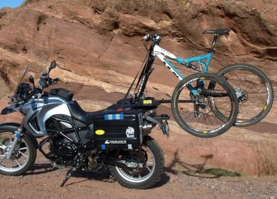 2X2 Bicycle Rack turns your motorcycle into a four-wheeler