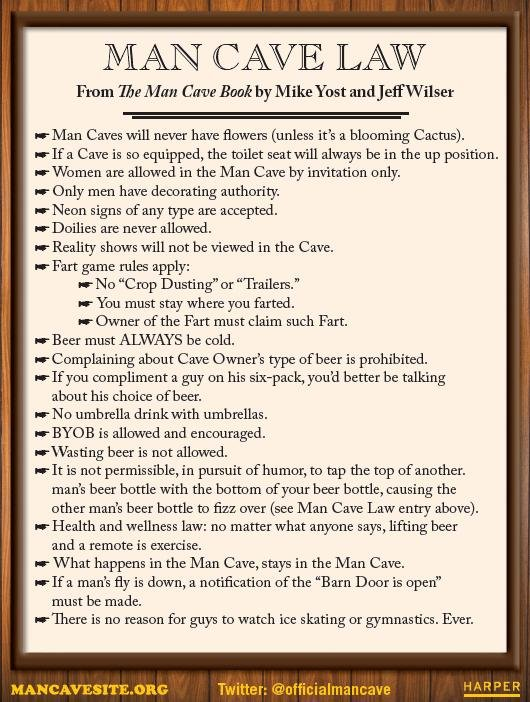 Laws of The Man Cave