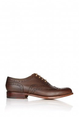 Grenson | Chocolate Leather Soft Unlined William Brogues by Grenson