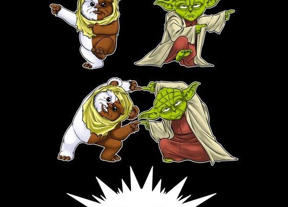 Ewok + Yoda = Gremlin T-Shirt