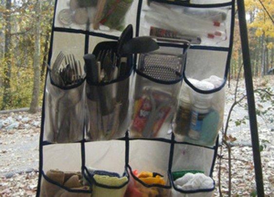 Turn a Shoe Organizer into an Outdoor Kitchen Organizer