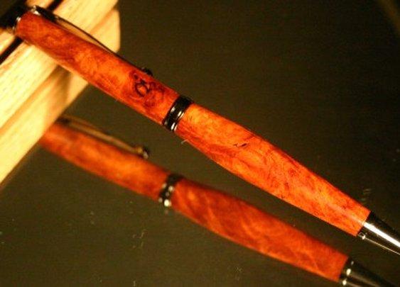 Wood Pen: rare amboyna men's desk wood pen by Hope & Grace Pens