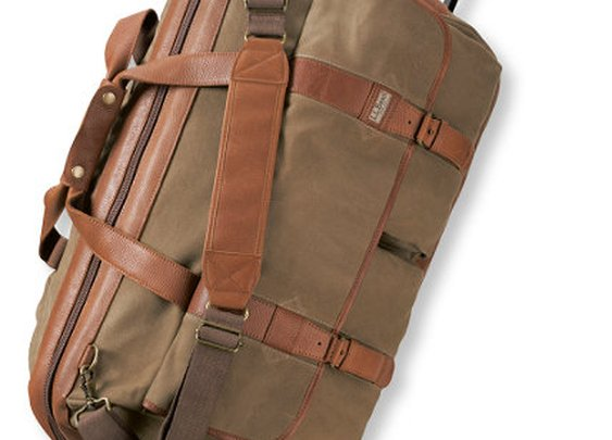 Maine Guide Rolling Duffle, Waxed-Canvas | L.L.Bean