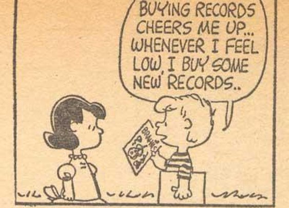 Buying records cheers me up