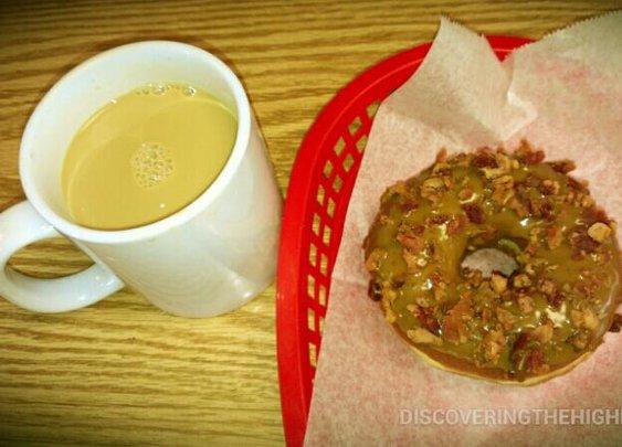 Mable bacon doughnut. For reals.