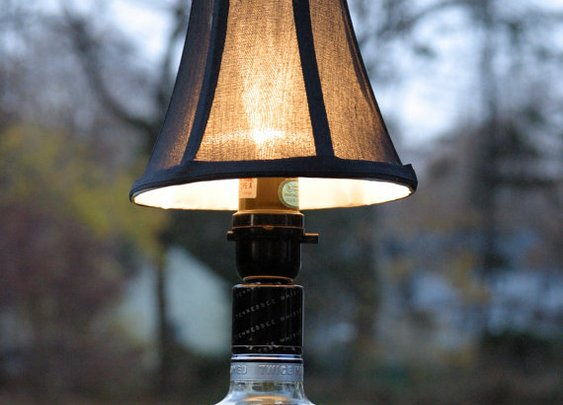 Gentleman Jack Whiskey Bottle Lamp by kingston6studio on Etsy