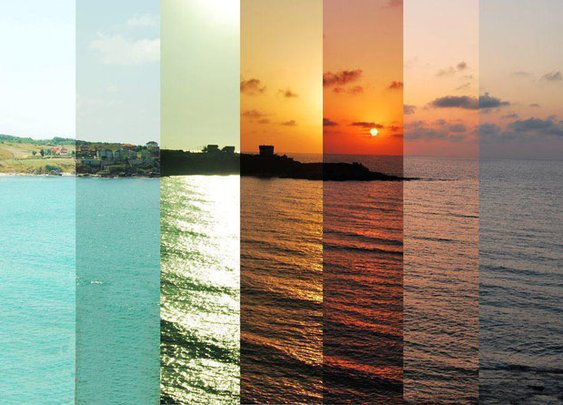 7 Colorful Hours of a Sunset Captured in a Single Photograph