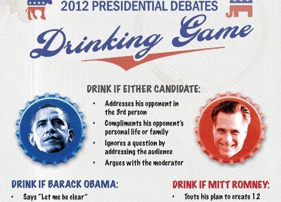 2012 Presidential Debate Drinking Game