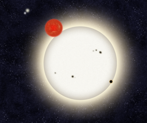 Researchers discover planet with four suns