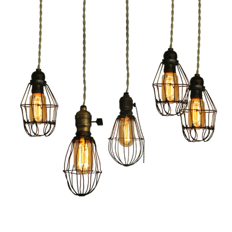 Vintage Cage lights «  Grassroots Modern – A shelter blog focusing on affordable modern furniture and accessories.
