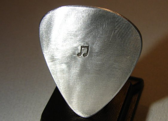 Aluminum Guitar Pick Handmade for the Serious Musician