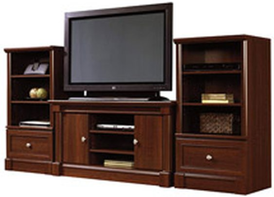 Sauder Palladia TV Stand and Storage Towers Value Bundle, Cherry: Furniture : Walmart.com