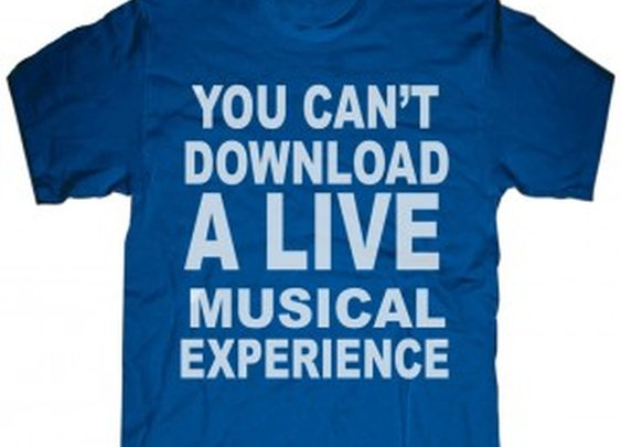 You Can t Download a Live...Experience t-shirt