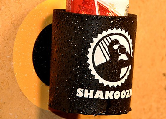 ShaKoozie Keeps Your Shower Beer High and Dry