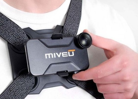 Miveu-X converts the iPhone into a chest-mounted actioncam