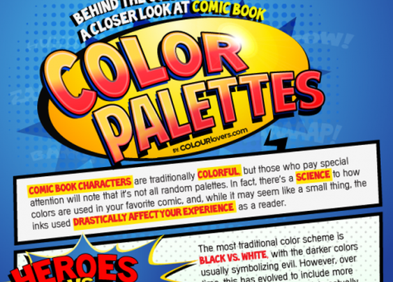 Rue The Day! » The Comic Book Color Infographic