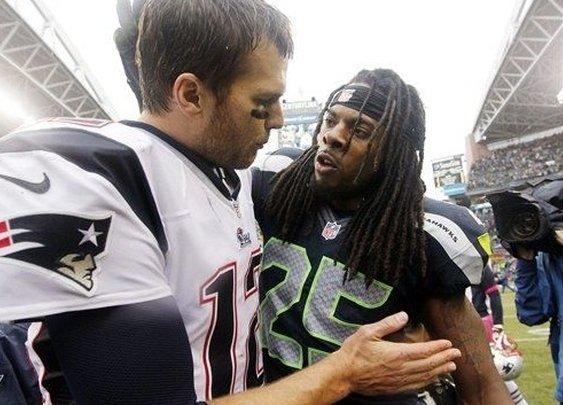 Tom Brady Getting An Ear Full After Sea Hawks Patriots Game ~ The Guys Corner