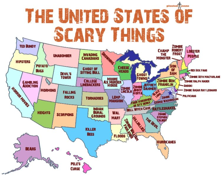 The United States of Scary Things Wallpaper