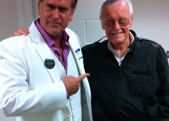 Twitter / GroovyBruce: Hangin' with the great Stan ...