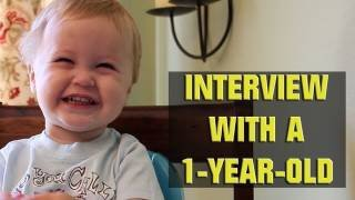 Interview with a One-Year-Old - YouTube