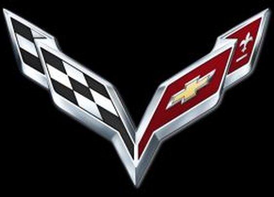 Chevrolet Corvette logos through the years