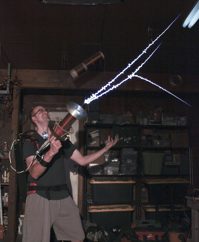 Play with Tesla Coil Gun. Because Paintball Guns are too main stream