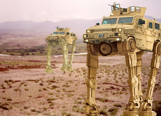 Army To Field Mine Resistant Ambush Protected-Walker Vehicle   The Duffel Blog