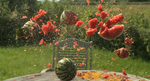 How to blow up a watermelon with rubber bands
