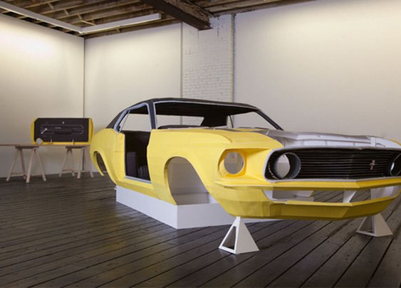 Man Recreates a 1969 Mustang Out of Paper.