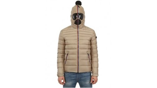 AI Riders On The Storm hooded down jacket keeps your face warm