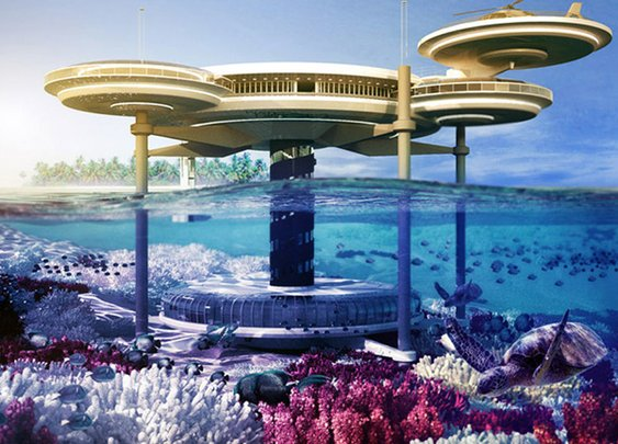 Unbelievable Underwater Hotel in Dubai... 21 Stories Deep