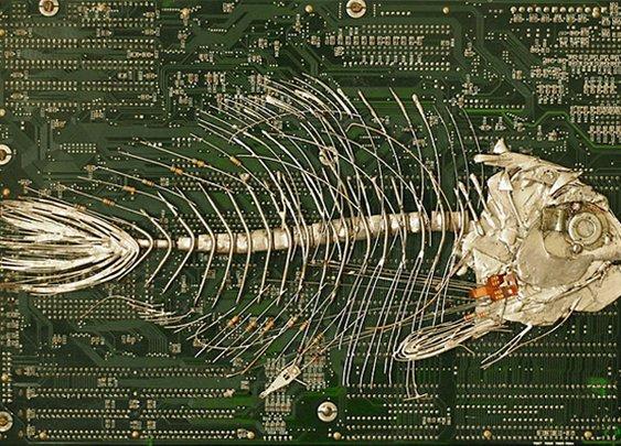 Repurposed Circuit Boards Create Fantastic Fossil Sculptures - Enpundit