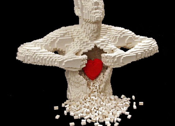 24 Awesome Artworks Made of LEGO