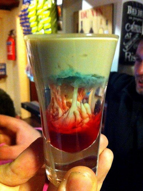 Alien Brain Hemorrhage Cocktail Recipe