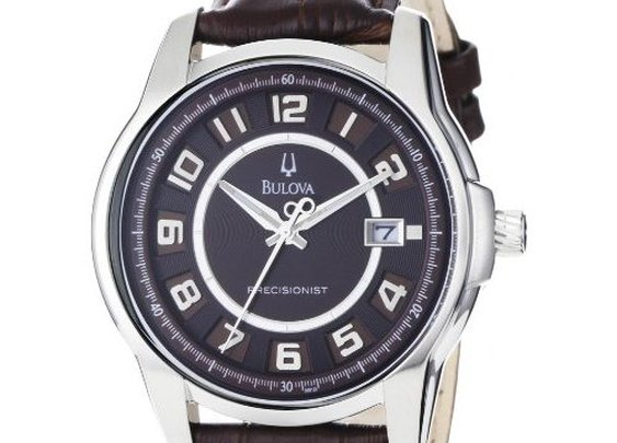 Bulova Men's 96B128 Precisionist Claremont Brown Leather Watch: Watches: Amazon.com
