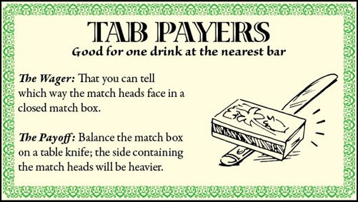 Tab Payers: 12 Classic Ways to Get a Friend to Buy You a Drink   The Art of Manliness