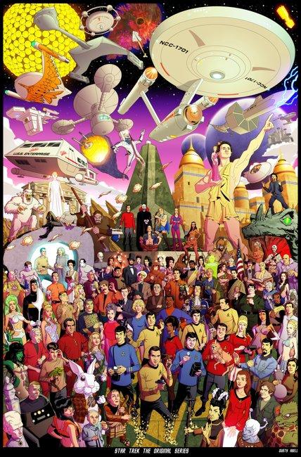 Epic Tribute Art for The Original STAR TREKSeries