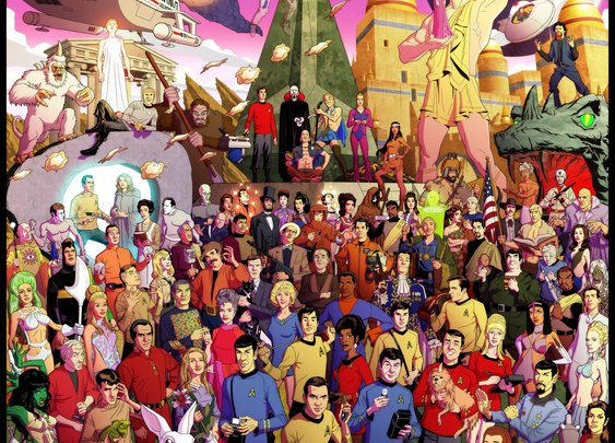 Epic Tribute Art for The Original STAR TREK Series