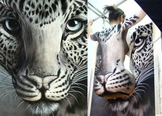 Body Painting Creates Insane Optical Illusions