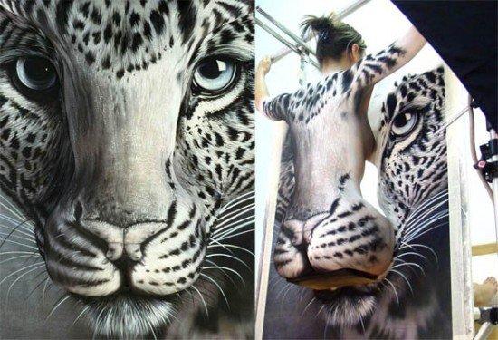 Body Painting Creates Insane Optical Illusions