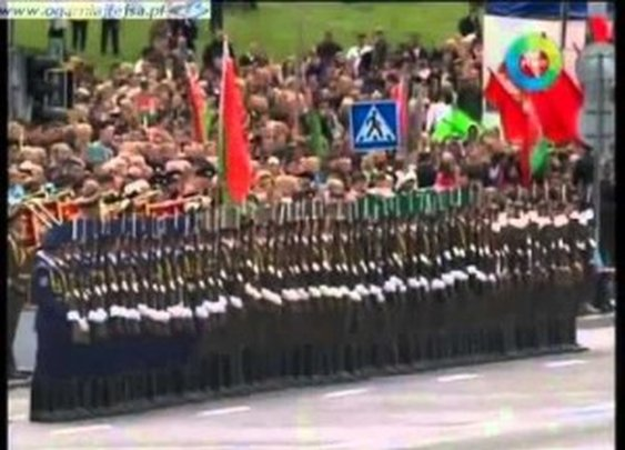 Domino Effect at a Military Parade in Belarus