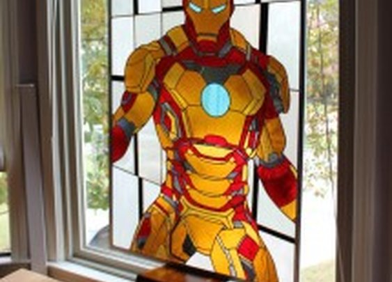 Video Game and Superhero Themed Stained Glass Panels