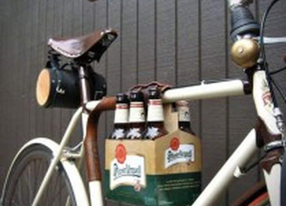 6 Pack Leather Bike Frame Holder | HiConsumption