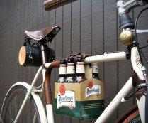 6 Pack Leather Bike Frame Holder | HiConsumption