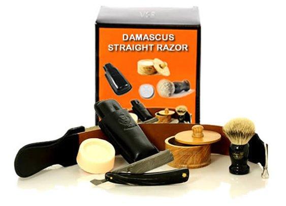 Vintage Straight Razor | BEST SELLER Buffalo Horn Shave Set | VintageStraightRazor.com