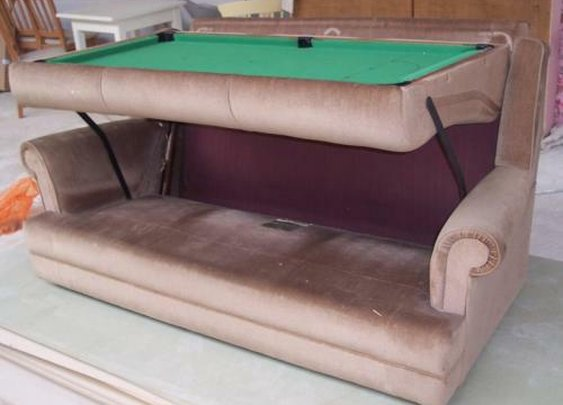 Sofa and Pool Table Transforming Furniture | Walyou