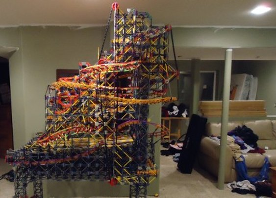 Engineering student shows off pinball machine made completely out of K'Nex