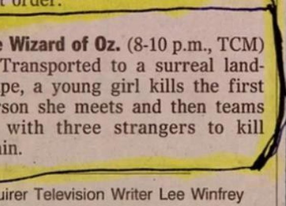 Wizard Of Oz TV Guide Win