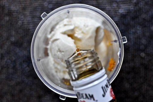 Bourbon Pumpkin Pie Milkshakes | How Sweet It Is